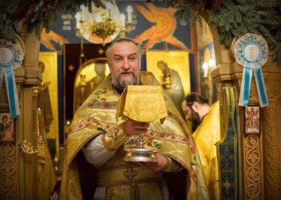 В Неделю о мытаре и фарисее богослужения на петербургском подворье монастыря возглавил наместник обители