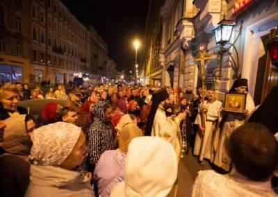 Святую Пасху молитвенно встретили на петербургском подворье Коневского монастыря