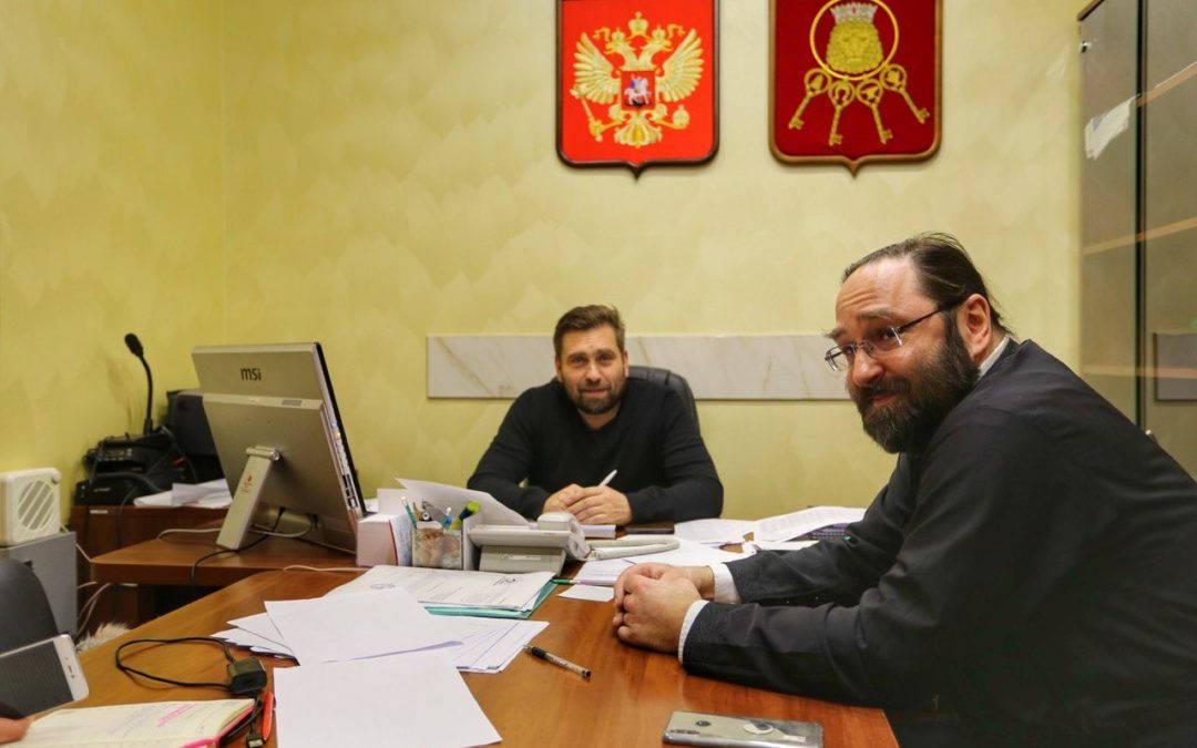 Состоялась встреча настоятеля Коневского подворья в Петербурге и главы городского муниципального совета  МО «Владимирский округ»