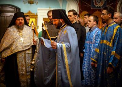 На петербургском подворье Коневского Рождество-Богородичного монастыря в день праздника Введения во храм Пресвятой Богородицы, 4 декабря, и накануне совершены праздничные богослужения.