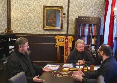 Епископ Выборгский и Приозерский Игнатий и епископ Рославльский и Десногорский Мелетий посетили петербургское подворье Коневского Рождество-Богородичного мужского монастыря.