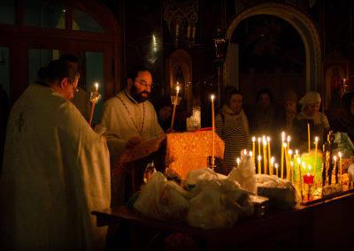 На петербургском подворье Коневского монастыря совершена заупокойная Литургия и парастас