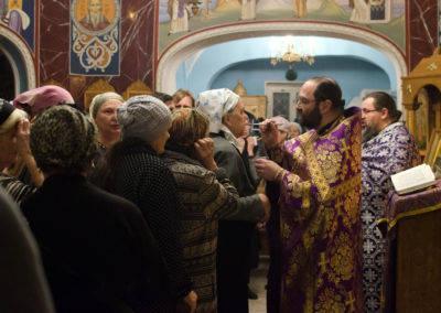Первое Таинство Соборования Великим постом совершили на подворье Коневского монастыря