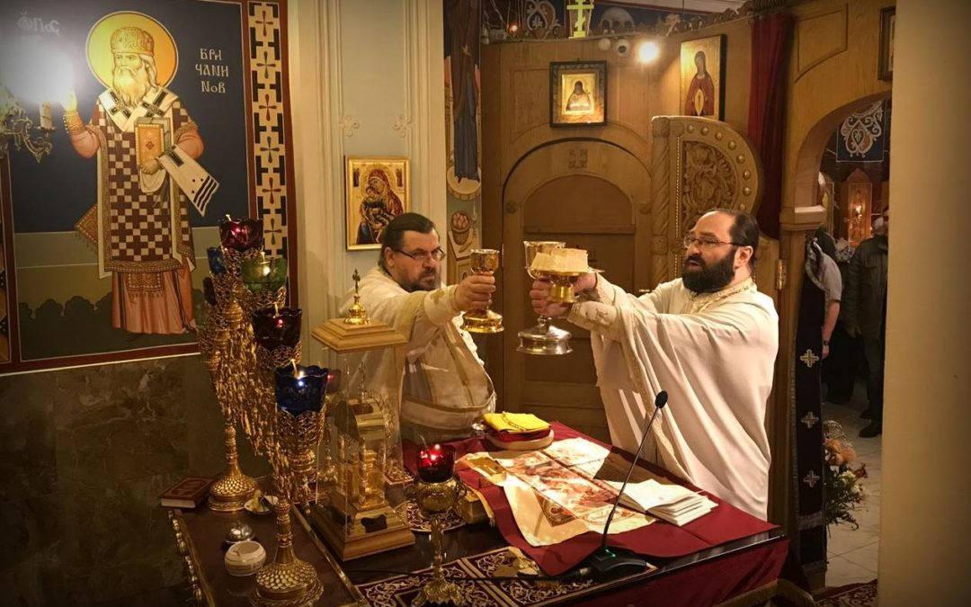 Неделю Торжества Православия молитвенно отметили на петербургском подворье Коневского монастыря