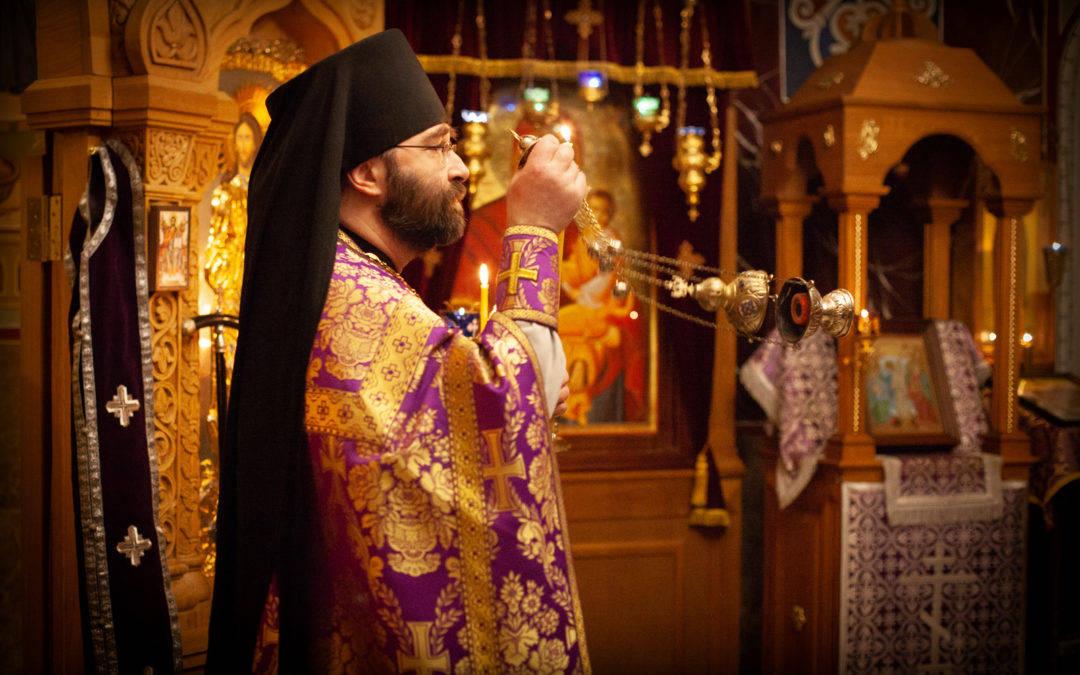 В Неделю преподобного Иоанна Лествичника на петербургском подворье  Коневской обители совершена  Божественная литургия
