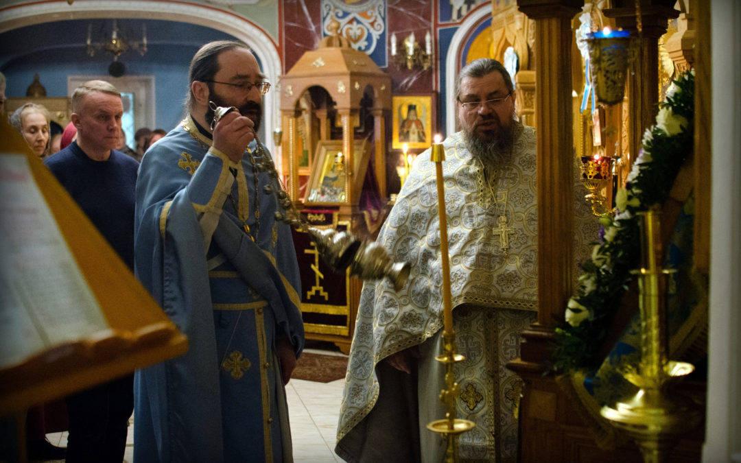 Богослужения праздника Благовещения Пресвятой Богородицы совершены на петербургском подворье Коневского монастыря