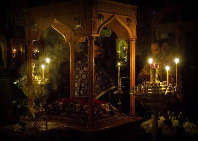 Уставные богослужения Страстной седмицы совершаются на подворье Коневской обители в Петербурге