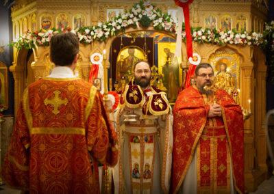 Пасху Христову молитвенно встретили на петербургском подворье Коневского монастыря