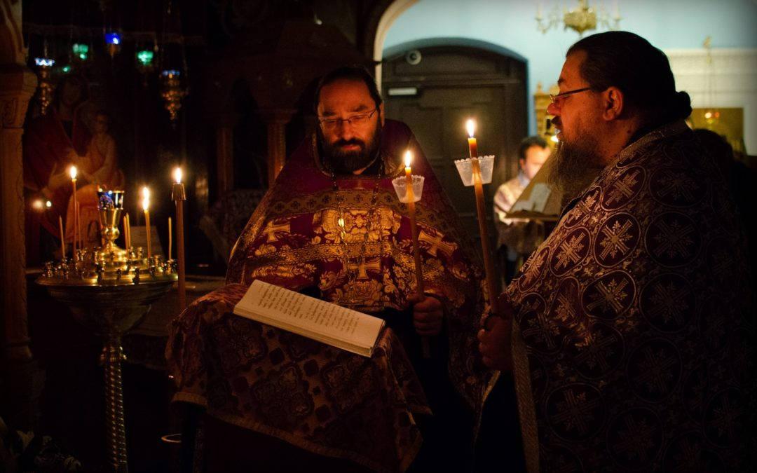 На петербургском подворье Коневского Рождество-Богородичного монастыря совершены уставные богослужения Четвертка Великого канона