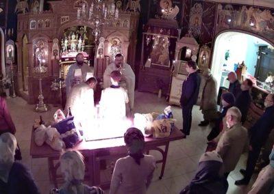 На петербургском подворье Коневской обители совершены богослужения Троицкой родительской субботы