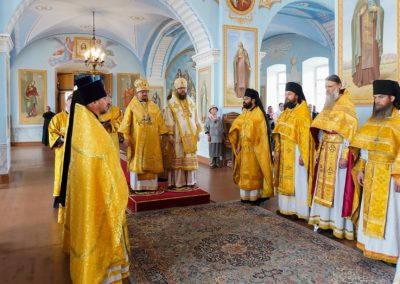 Настоятель и клир петербургского подворья Коневского монастыря молитвенно поздравили Преосвященнейшего Игнатия с юбилеем архиерейской хиротонии