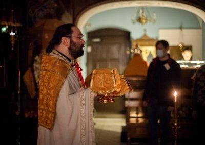 Память святителя Спиридона Тримифунтского молитвенно встретили на петербургском подворье Коневского Рождество-Богородичного монастыря