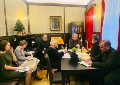 Преосвященнейший Игнатий провел отчётное годовое собрание представителей всех служб Коневской обители