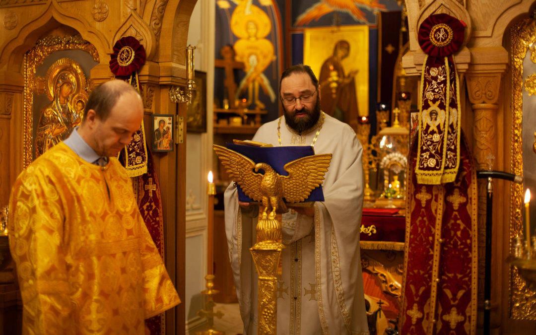 Память святого апостола Андрея Первозванного молитвенно встретили на петербургском подворье Коневской обители