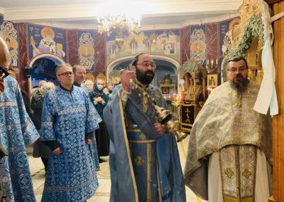 Сретение Господне молитвенно встретили на петербургском подворье Коневского монастыря