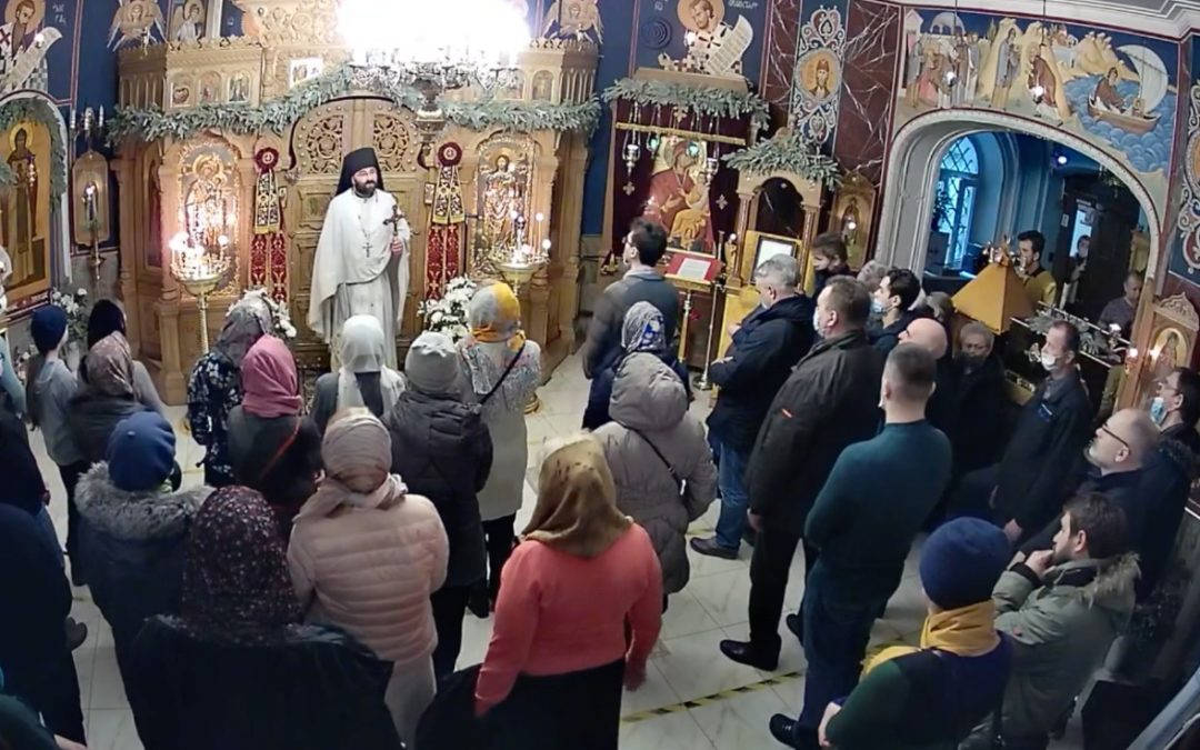Богослужения Недели о блудном сыне совершены на петербургском подворье Коневской обители