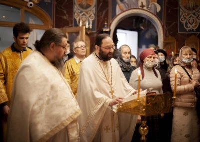 Неделю Торжества Православия молитвенно встретили на петербургском подворье Коневского монастыря