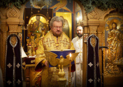 3 апреля, в день памяти преподобного Серафима Вырицкого, епископ Выборгский и Приозерский Игнатий совершил Божественную литургию на петербургском подворье Коневского Рождество-Богородичного монастыря.