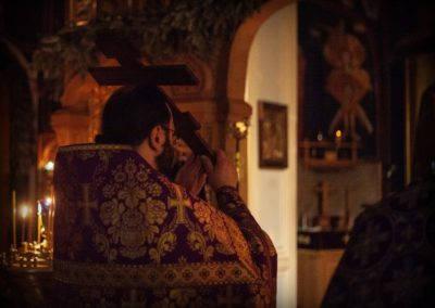 Богослужения седмицы Крестопоклонной совершены на петербургском подворье Коневской обители