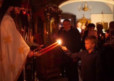 Светлое Христово Воскресенье молитвенно встретили на петербургском подворье Коневского Рождество-Богородичного монастыря
