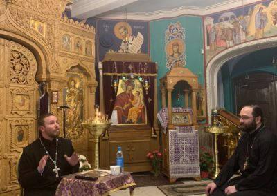 На подворье Коневской обители в Петербурге состоялась встреча со священником Михаилом Котовым «Духовный путь Н.В.Гоголя»