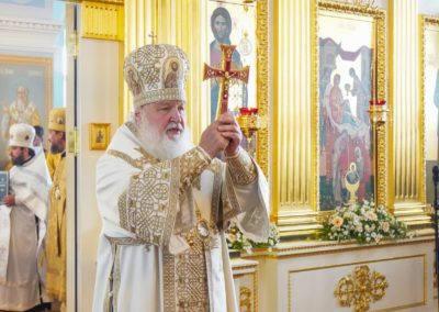 Святейший Патриарх Кирилл возглавил заключительные торжества года 625-летия Коневского Рождество-Богородичного монастыря