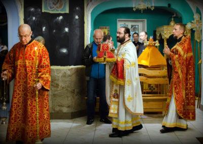 На петербургском подворье Коневской обители в День трезвости совершен молебен о страждущих недугом винопития