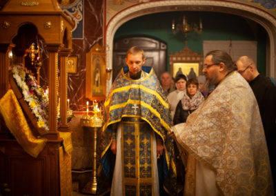 Великий праздник Покрова Пресвятой Богородицы встретили на петербургском подворье Коневского Рождество-Богородичного монастыря