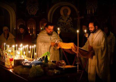В канун Димитриевской субботы на петербургском подворье Коневского монастыря был совершен паратас