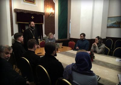 На Коневском подворье состоялось первое занятие Епархиальных курсов повышения квалификации специалистов по информационному служению