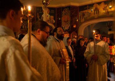 На петербургском подворье Коневского монастыря Рождество Христово встретили за ночным богослужением