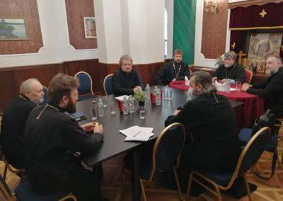 На подворье Коневской обители в Петербурге прошла рабочая встреча вице-губернатора Ленинградской области с архиереями епархий Ленинградской области