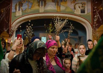 Богослужения праздника Входа Господня во Иерусалим совершены на петербургском подворье Коневского Рождество-Богородичного монастыря
