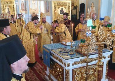 Настоятель петербургского подворья Коневского монастыря сослужил Преосвященнейшему Игнатию, Преосвященнейшему Мелетию и наместнику монастыря в Коневской обители