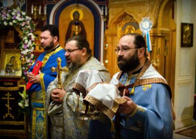 На петербургском подворье Коневской обители молитвенно встретили престольный праздник
