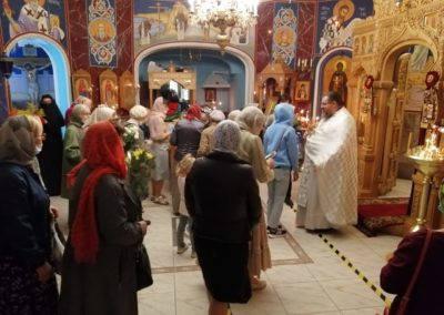 Настоятель и прихожане поздравили клирика подворья, игумена Бориса, с днем тезоименитства