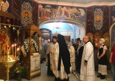 В день Преображения Господня на Коневском подворье в Петербурге совершены праздничные богослужения