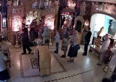 На петербургском подворье Коневского монастыря совершены богослужения праздника Происхождения Честных Древ Животворящего Креста Господня
