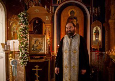 Обновлена риза для списка Коневской иконы Божией Матери на петербургском подворье островной обители