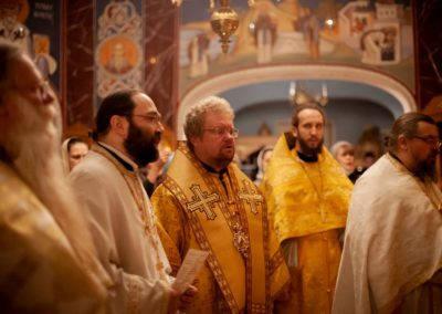 Епископ Выборгский и Приозерский Игнатий совершил Божественную литургию в день праздника в честь иконы «Скоропослушница» на петербургском подворье Коневского монастыря