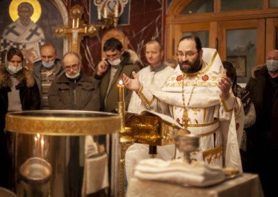 Богоявление Господне молитвенно встретили на петербургском подворье Коневской обители