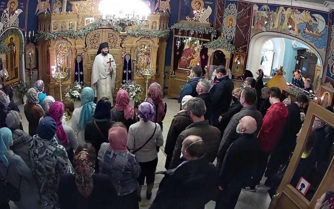 Неделю преподобной Марии Египетской  молитвенно встретили на петербургском подворье Коневского монастыря