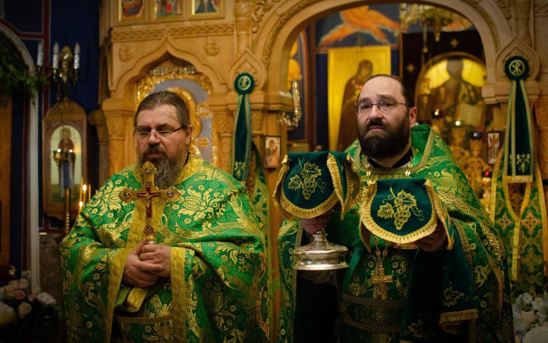 В праздник Пятидесятницы на петербургском подворье Коневской обители совершены торжественные богослужения