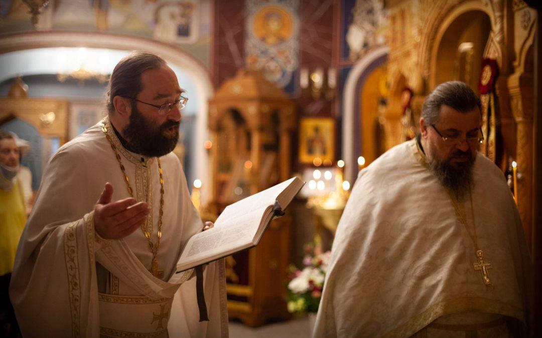 Праздник святых первоверховных апостолов Петра и Павла молитвенно встретили на петербургском подворье Коневского монастыря